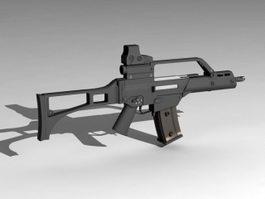 G36C Assault Rifle 3d preview