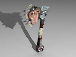 Ancient War Axe 3d model preview