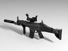 SCAR-H Rifle 3d preview