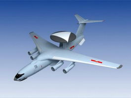 Chinese KJ-500 AEW&C 3d model preview