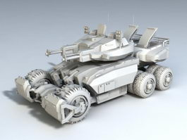 Military Combat Vehicle 3d model preview