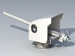 Navy Anti-Aircraft Artillery 3d model preview