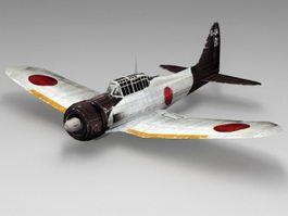 WW2 Japan Ki-43 Fighter Aircraft 3d preview