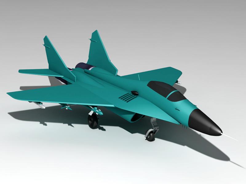 MiG-29 Soviet Fighter 3d rendering
