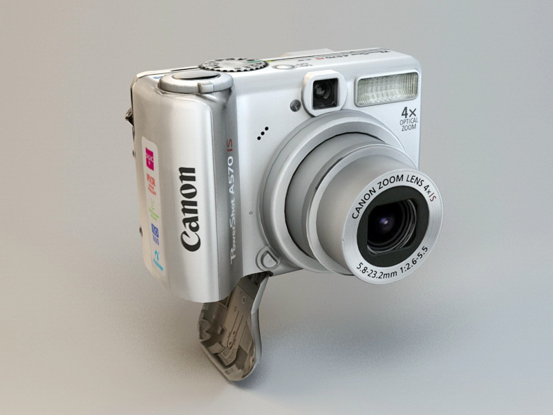 Canon PowerShot A570IS 3d rendering