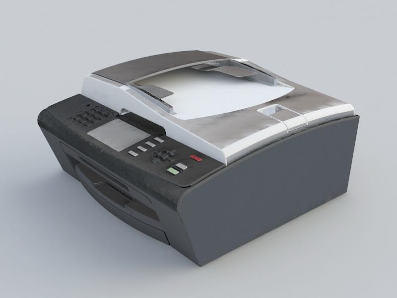 All in One Printer 3d rendering