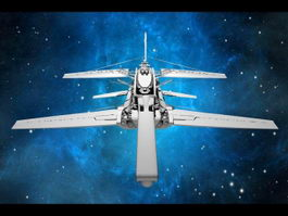 Alien Sci-Fi Starfighter 3d preview