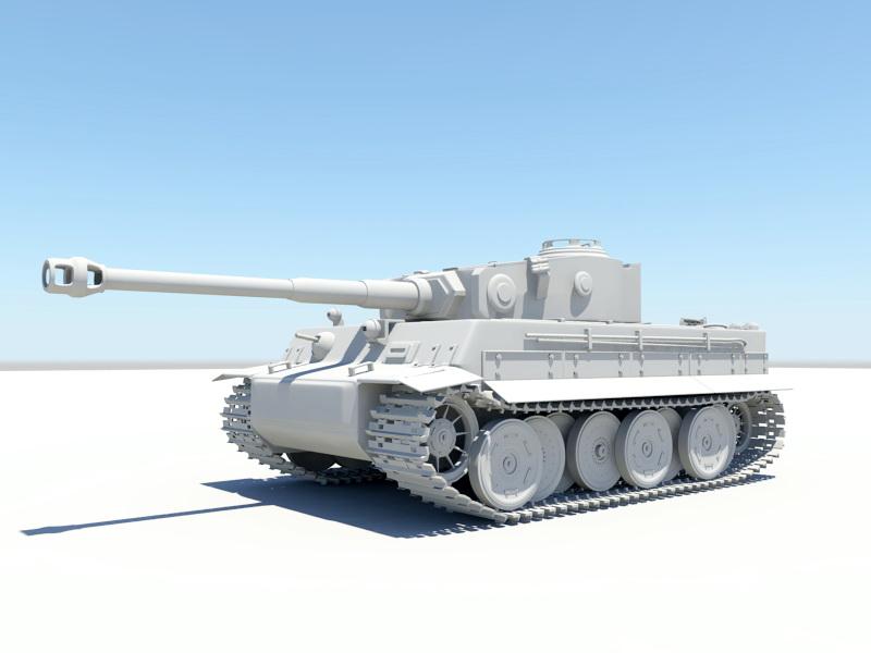 WW2 Tiger II Tank 3d rendering