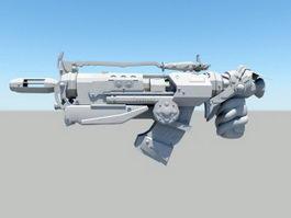 Sci Fi Gun 3d preview