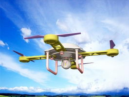 Drone Quadcopter 3d model preview