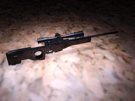 Black Sniper Rifle 3d model preview