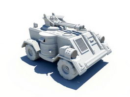 Military Armored Car 3d preview