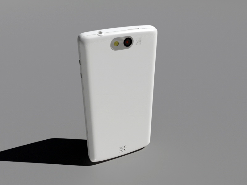 Android Phone 3d rendering
