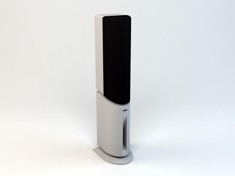 Hi-Fi Speaker 3d rendering