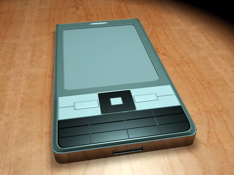Early Smartphone 3d rendering