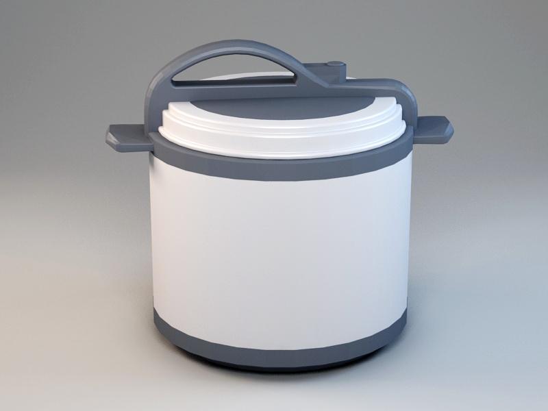 Electric Pressure Cooker 3d rendering