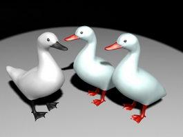 White Ducks 3d model preview