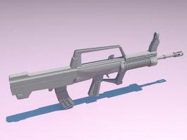 Carbine Rifle 3d model preview
