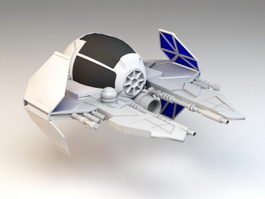 Jedi Starfighter 3d preview