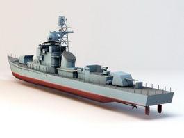 Destroyer Ship 3d model preview
