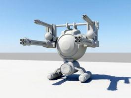Futuristic Gun Turret 3d preview