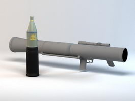 Carl Gustaf Rocket Launcher 3d preview
