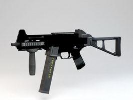 HK UMP Submachine Gun 3d model preview