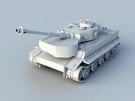 Tiger Tank 3d model preview