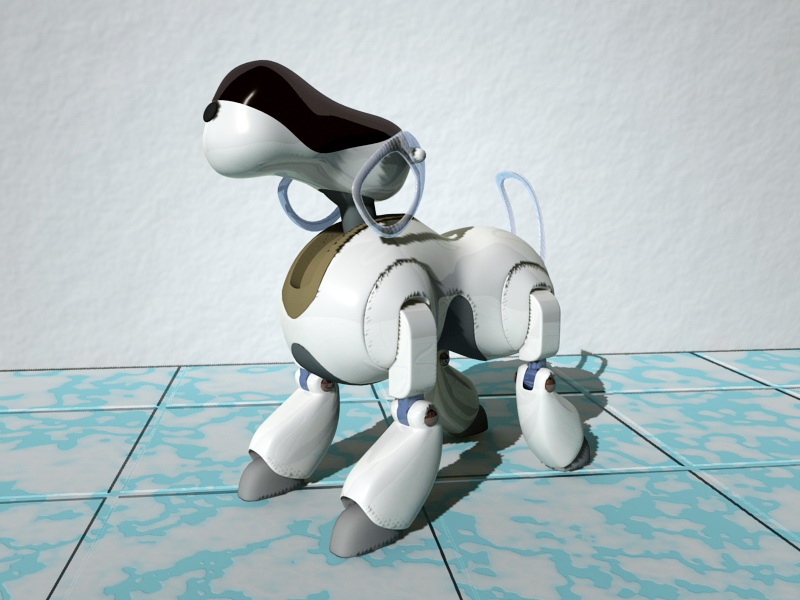 Robot Dog 3d rendering