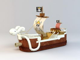 Ship Going Merry 3d preview