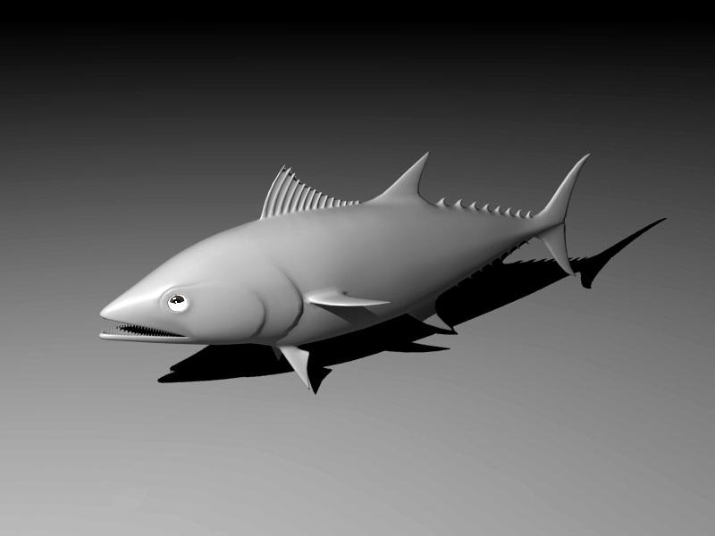 Tuna Fish 3d rendering