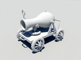 Cartoon Cannon 3d model preview
