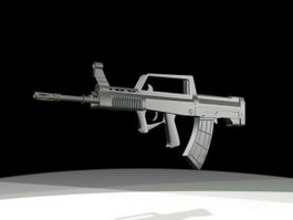 QBZ-95 Chinese Assault Rifle 3d model preview