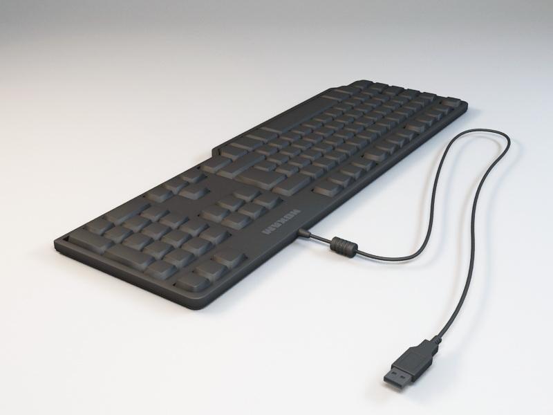 USB Computer Keyboard 3d rendering