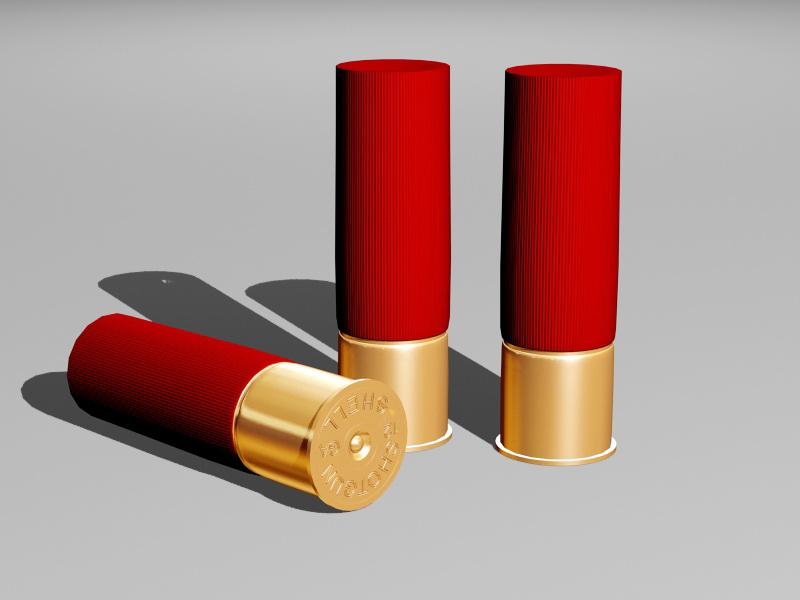Shotgun Shell 3d rendering