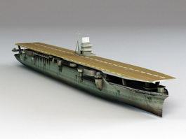 Japanese Aircraft Carrier Akagi 3d preview