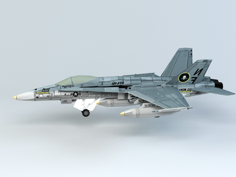 F 18 Fighter 3d rendering