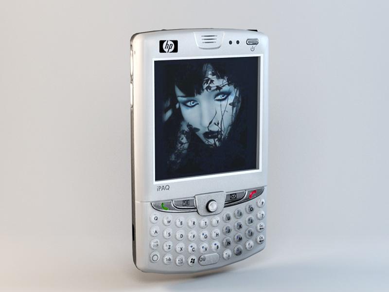 HP iPAQ HW6900 PDA 3d rendering