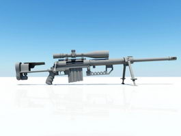 Military Sniper Rifle 3d model preview