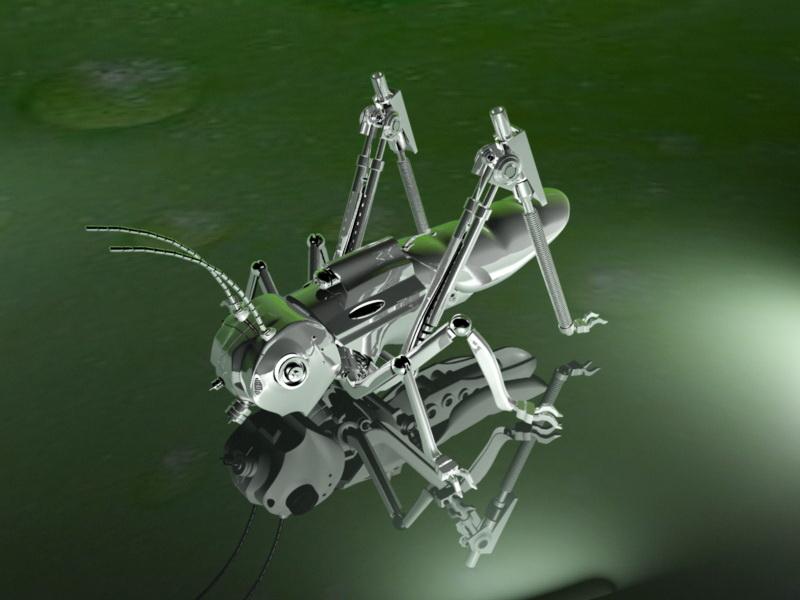 Robotic Locust Grasshopper 3d rendering