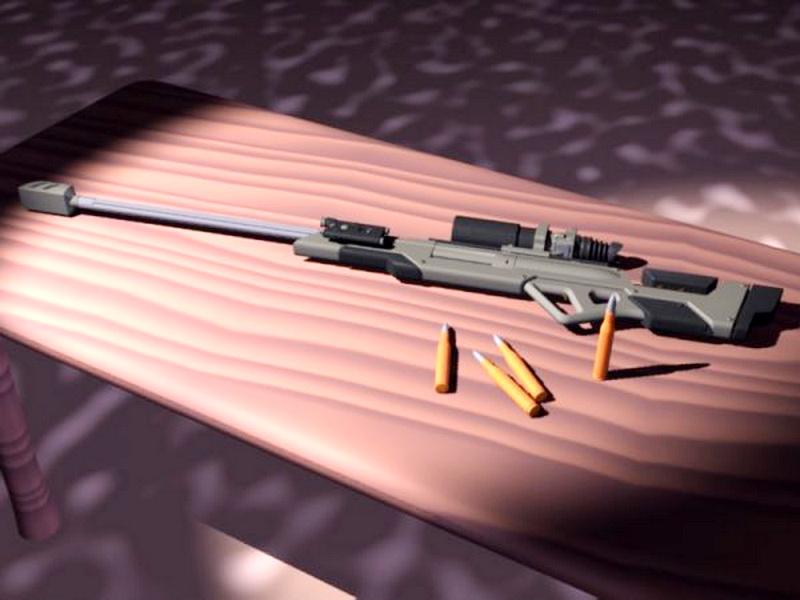 Long Range Rifle 3d rendering