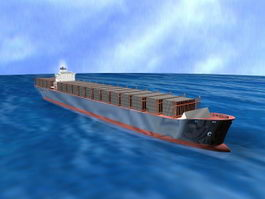 Ocean Freight Container 3d preview