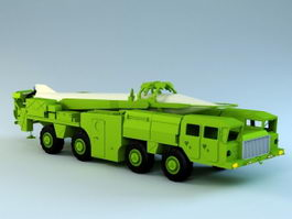 Scud Missile Truck 3d preview