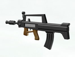 Type 95 Assault Rifle 3d model preview