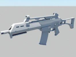 HK-G36C Carbine 3d model preview