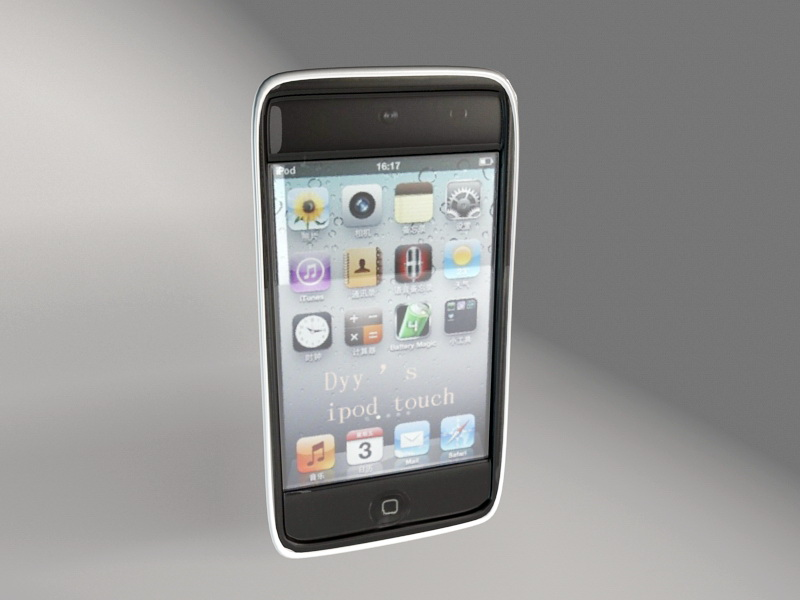 iPod Touch 6 3d rendering