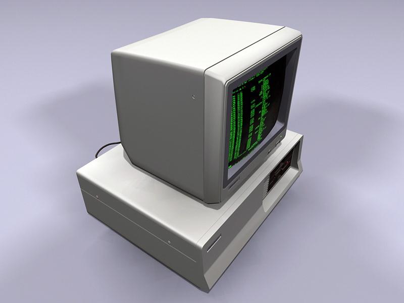 Old Computer 3d rendering