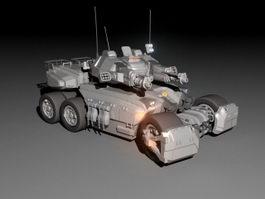 Sci-Fi Combat Tank 3d preview