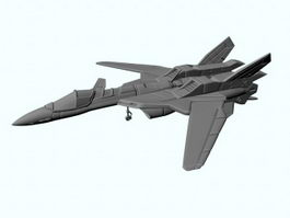 Sci-Fi Fighter Jet 3d preview
