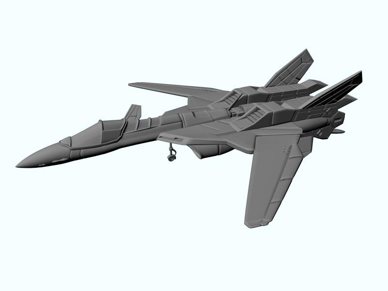 Sci-Fi Fighter Jet 3d rendering